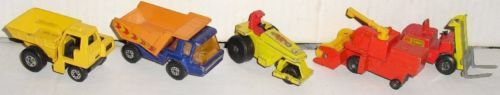 Vintage LESNEY Matchbox Car lot 5 commercial CONSTRUCTION truck
