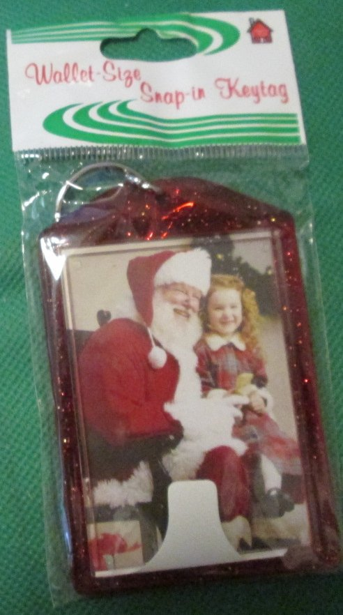 "Wallet size snap-in Photo FRAME keyring key chain 2x3"", MIP - Click Image to Close"