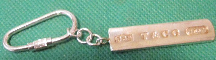 2001 TIFFANY & CO 925 keyring key chain 2""