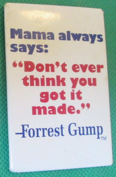 FOREST GUMP Mama Always says ... refrigerator frig MAGNET 3""