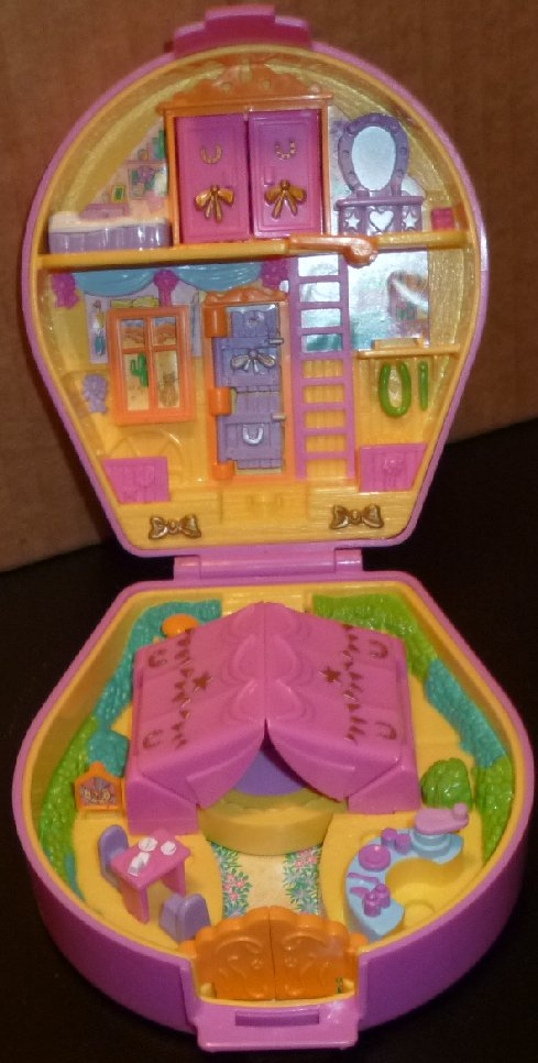 POLLY POCKET Pony Ridin' Riding Show Pony Parade Collection Case