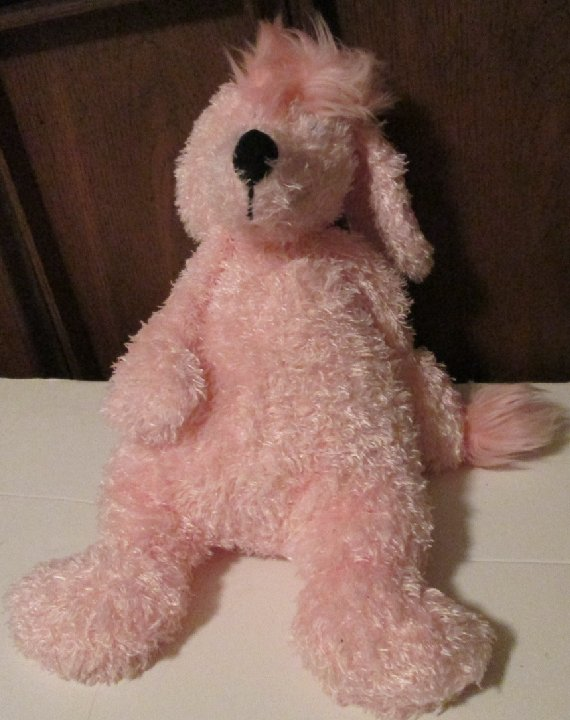 "Shaggy Floppy Plush Bunglie pink POODLE dog 16"", JELLYCAT"