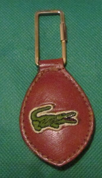 Vintage LACOSTE alligator keyring key chain 2.75""