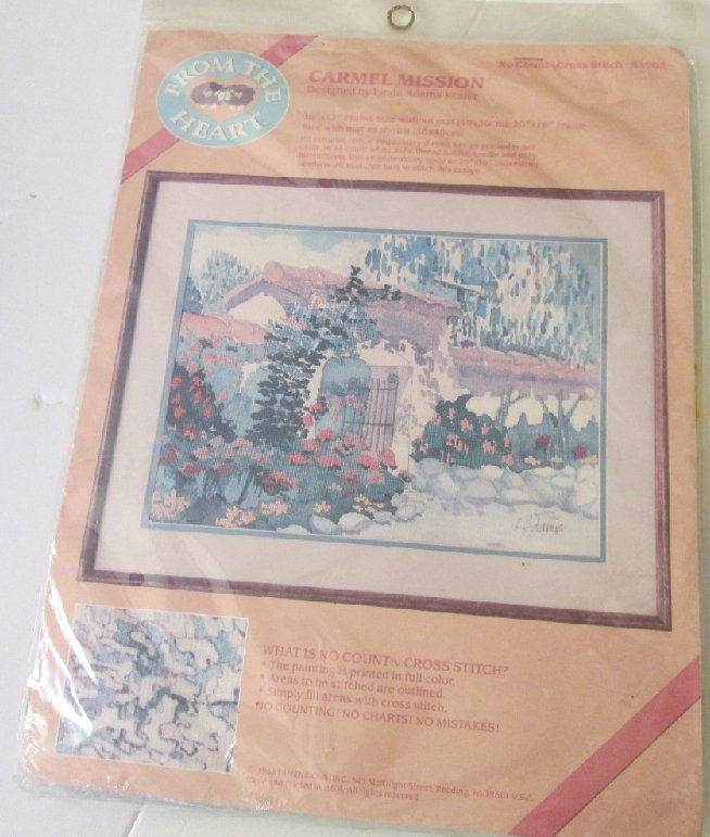 FROM THE HEART Cross Stitch CARMEL MISSION Adams Kesler Kit MIP