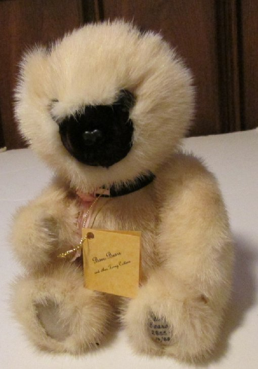 BASU Enterprises BEARS 10/88 Plush jointed MINK Teddy BEAR 12""