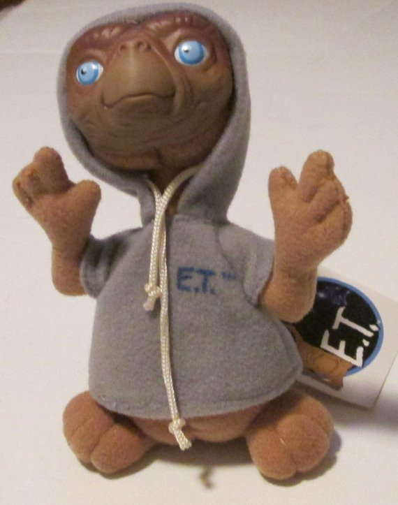 ET E.T Extra Terrestrial mini plush doll wearing hoodie