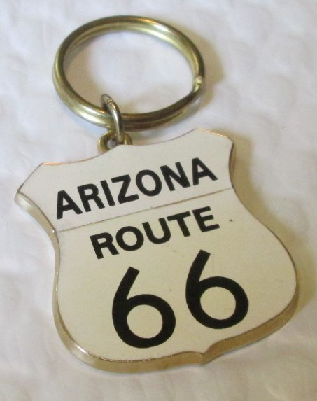 ARIZONA ROUTE 66 shield Souvenir keyring key chain keychain 2""