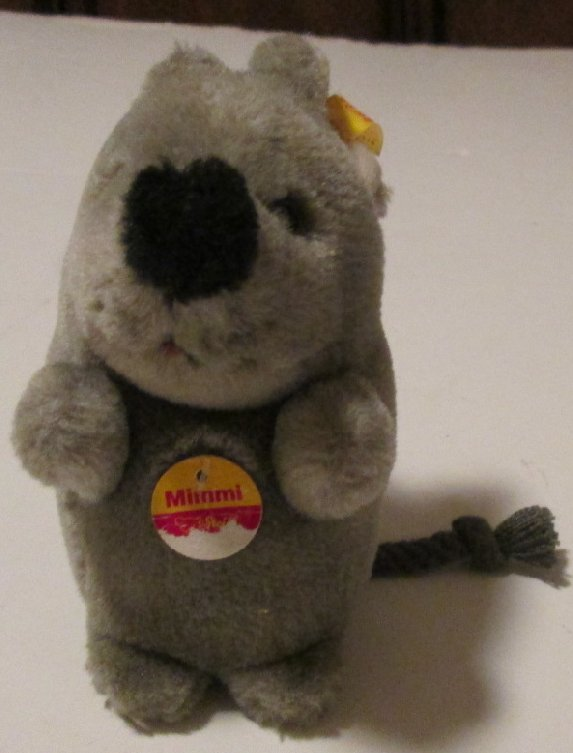 "STEIFF Plush MIMMI Mouse 5"" with ear button #056116"
