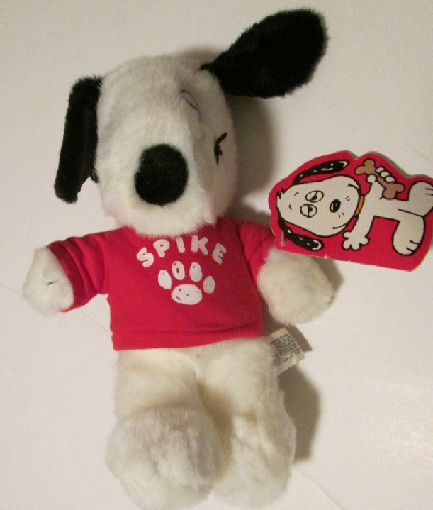 Vtg Peanuts Plush Snoopy's brother SPIKE stuffed doll red top