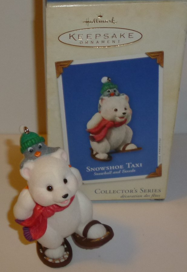 2003 HALLMARK Christmas Ornament SNOWSHOE TAXI Collectors Series