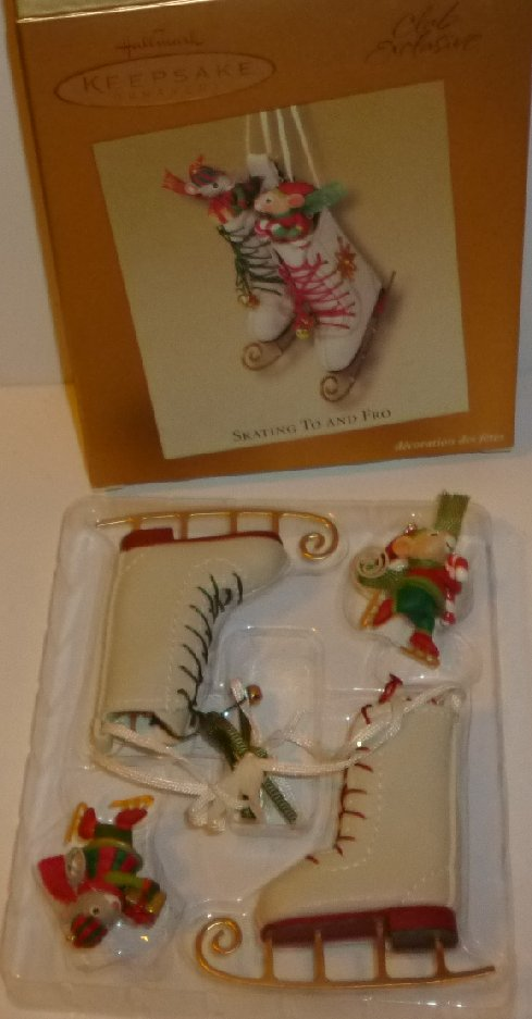 2003 HALLMARK Ornament SKATING TO AND FRO Collectors Series Club