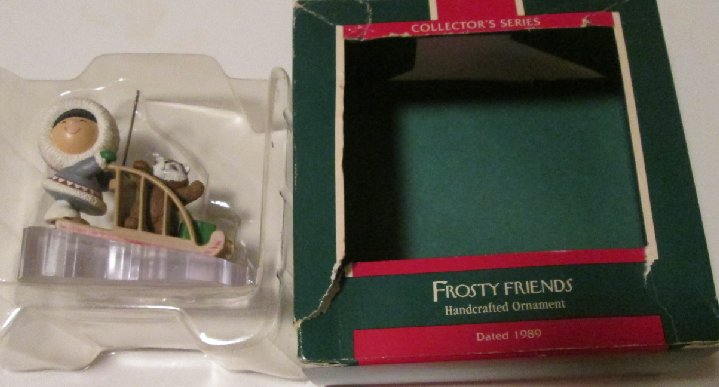 1989 Hallmark Ornament FROSTY FRIENDS 10th In Series, in box