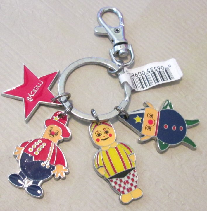 MACY'S Thanksgiving Day Parade metal charms keyring key chain