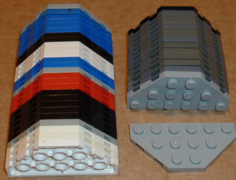 LEGO Lot of 41 Plate 3 x 6 without Corners, mixed colors