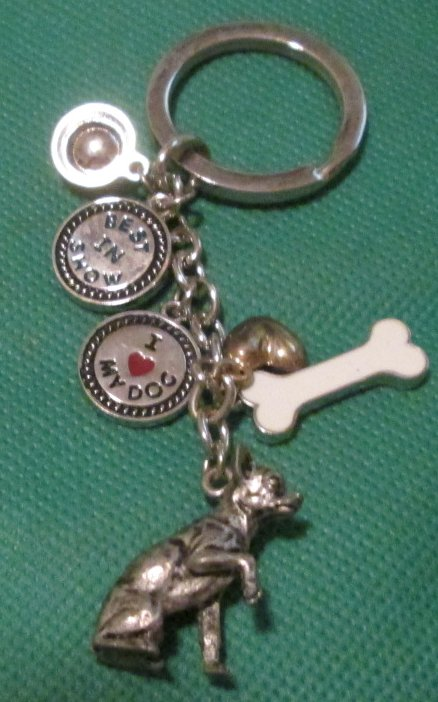 Best in Show bowl bone dog Chihuahua charms keyring keychain