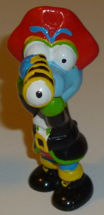 MUPPETS PVC Figure Gonzo PIRATE with telescope 2.75""
