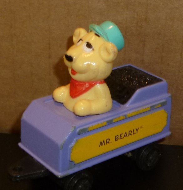 "Shari Lewis LAMBCHOP friend MR BEARLY train car 3"", 1994 ERTL"