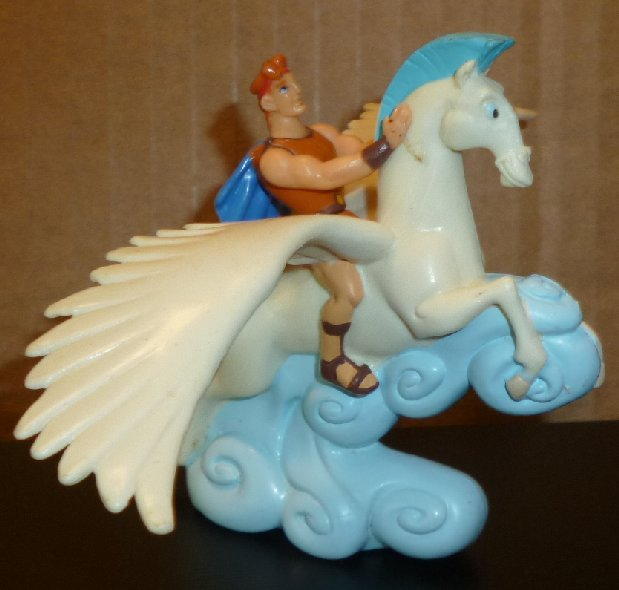 "HERCULES on pegasus horse PVC Figure 3"", Disney"