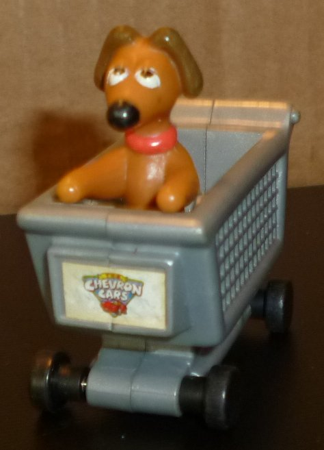 CHEVRON Toy Car accessory DOG IN GROCERY CART 2""