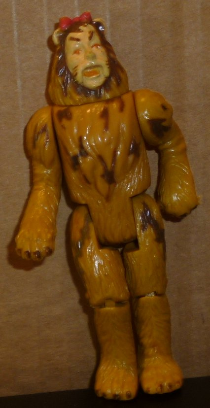 WIZARD of OZ action figure Toy COWARDLY LION 4""