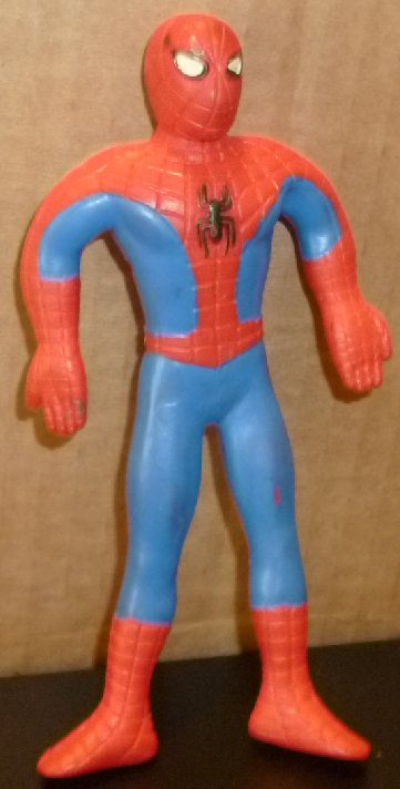 SPIDER MAN SPIDERMAN bend-em bendy figure 1999 Marvel Just Toys