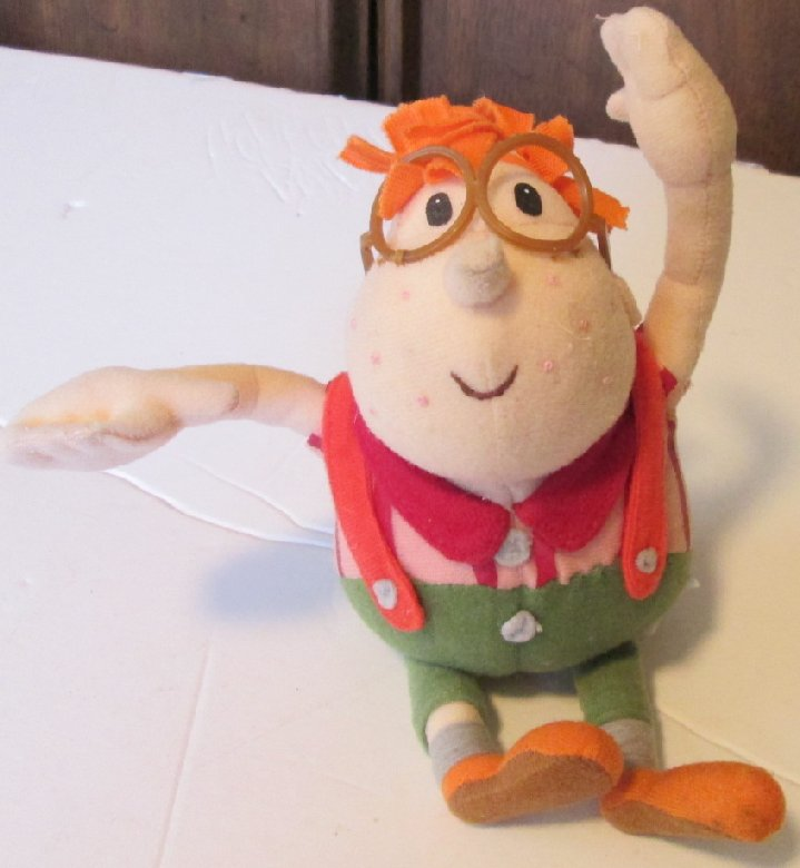 Rare JIMMY NEUTRON Boy Genius Plush CARL stuffed doll 8""