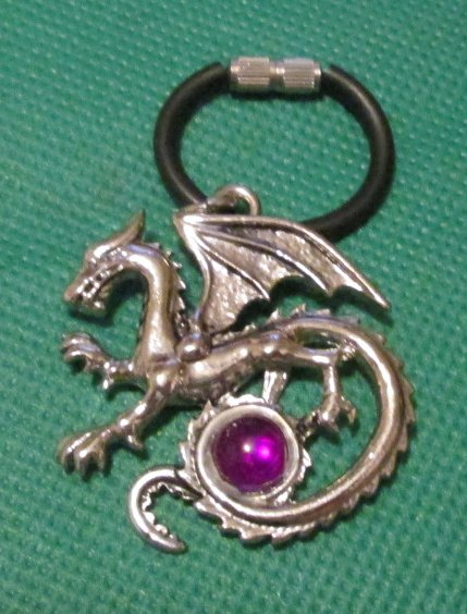 DRAGON metal keyring key chain 1.5""