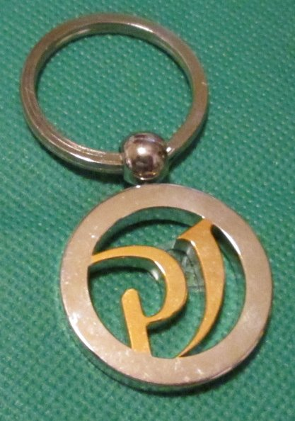 PJ metal keyring key chain 2""