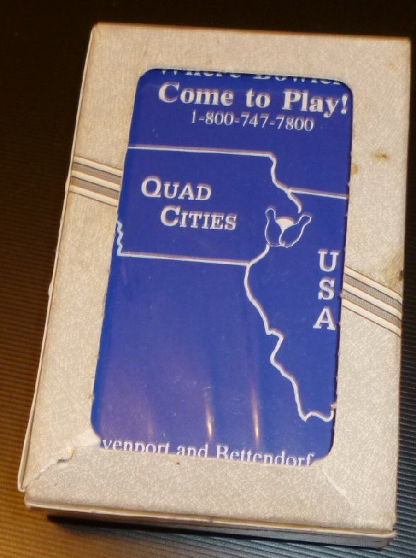 1 Deck playing cards QUAD CITIES Bowlers Bowling MIP