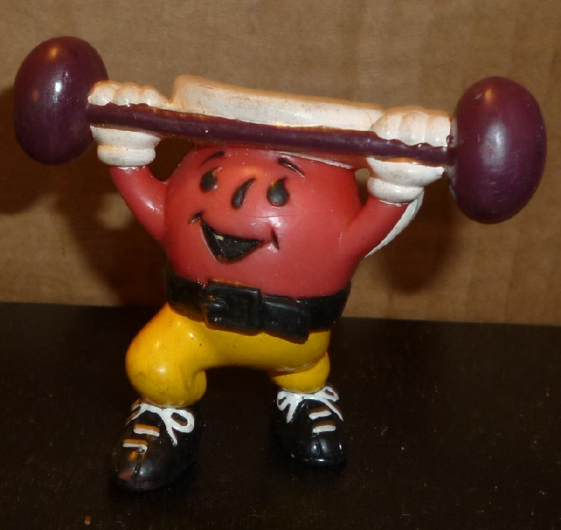 KOOL AID PVC Figure weight lifter 2.25""