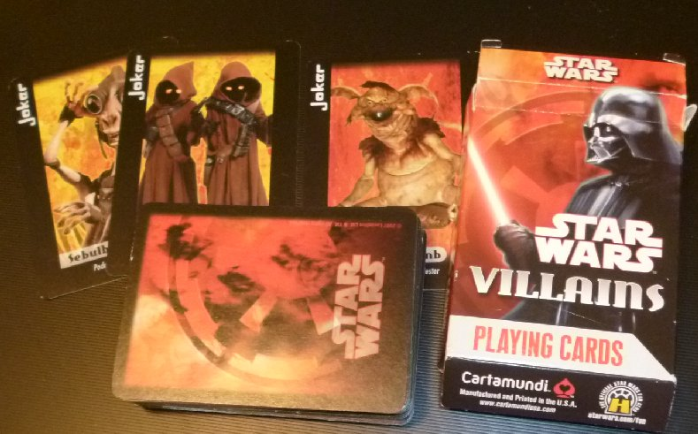1 DECK Star Wars VILLAINS playing cards