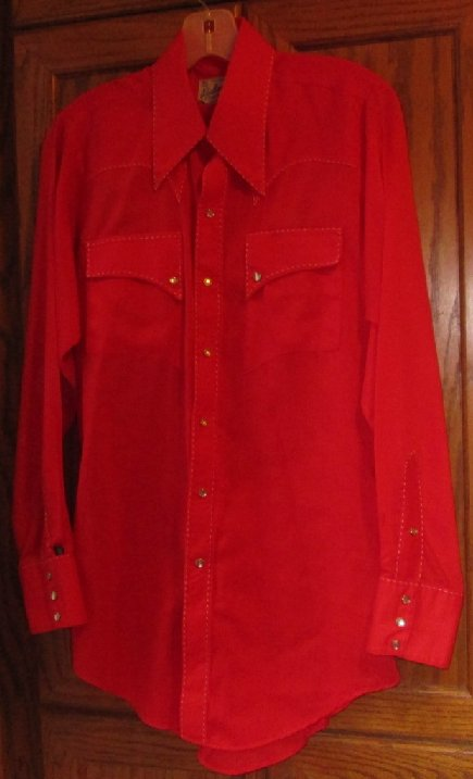 Vintage ROCKMOUNT RANCH WEAR country western rodeo red shirt