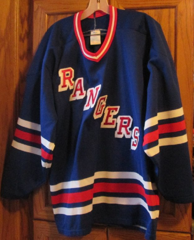 Vintage NHL hockey NEW YORK RANGERS CCM Air Knit MASKA Jersey L