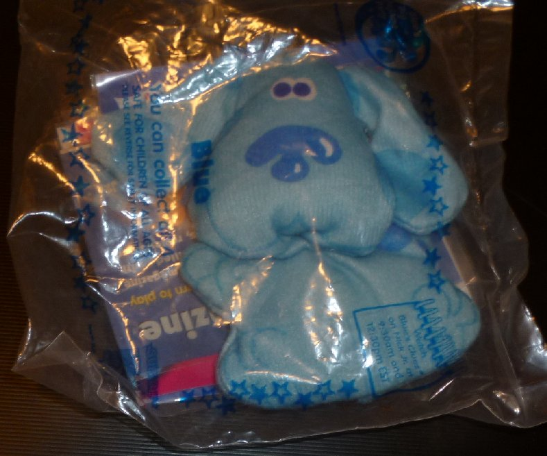 "BLUES CLUES Cloth doll toy 3.5"", 1999 SUBWAY, MIP"