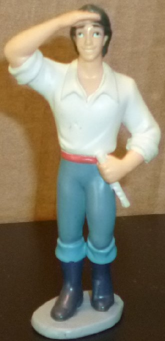 "LITTLE MERMAID Prince ERIC PVC Figure 3.75"", Disney"