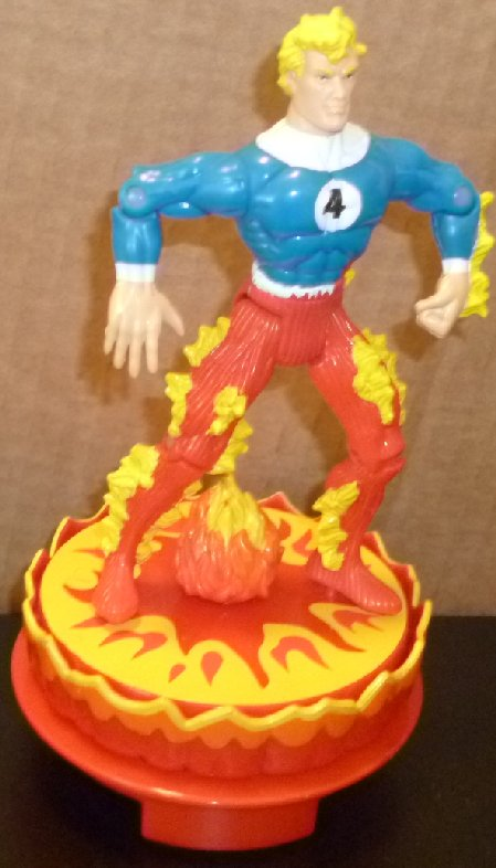 "FANTASTIC FOUR HUMAN TORCH action figure toy 5.25"", 1996 Marvel"