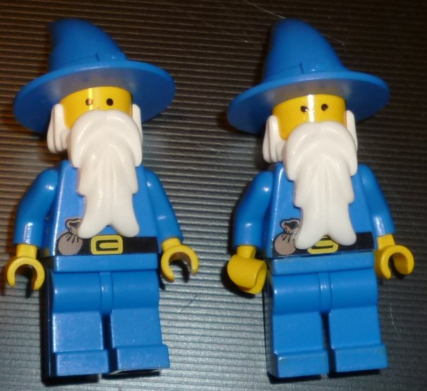 LEGO Part lot of 2 CASTLE WIZARDS Mini Fig Minifig MINIFIGS