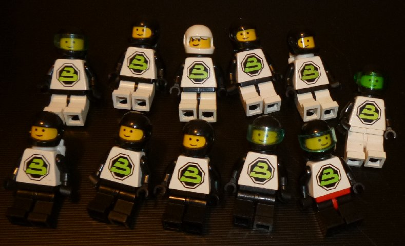 LEGO Parts 11 Mini Fig Minifig Minifigures Space BLACKTRON