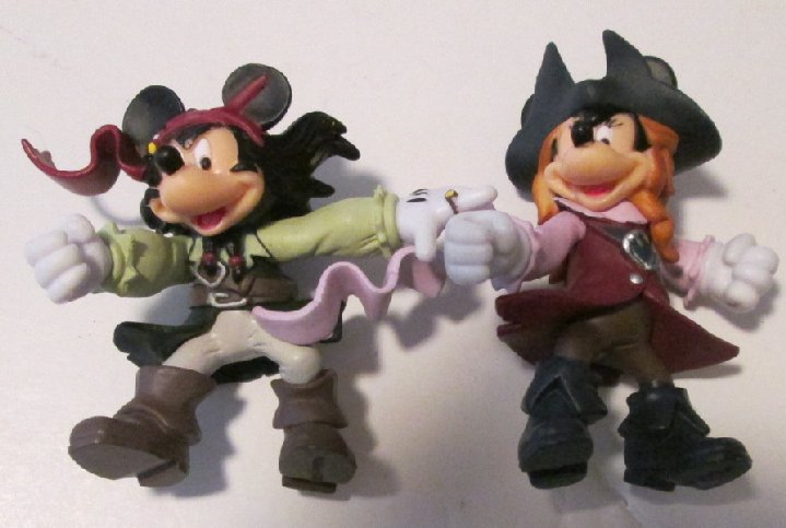 MICKEY & MINNIE MOUSE Pirate of the Caribbean PVC Figures 2.5""