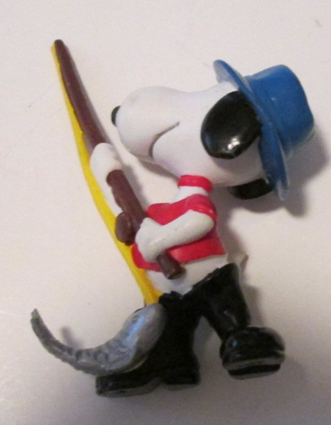 Peanuts SNOOPY PVC Figure FISHING 2.5""