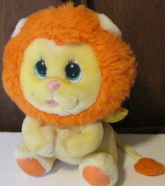 RARE 80s Mattel Plush ANGEL BUNNY friend ANGEL LION stuffed doll