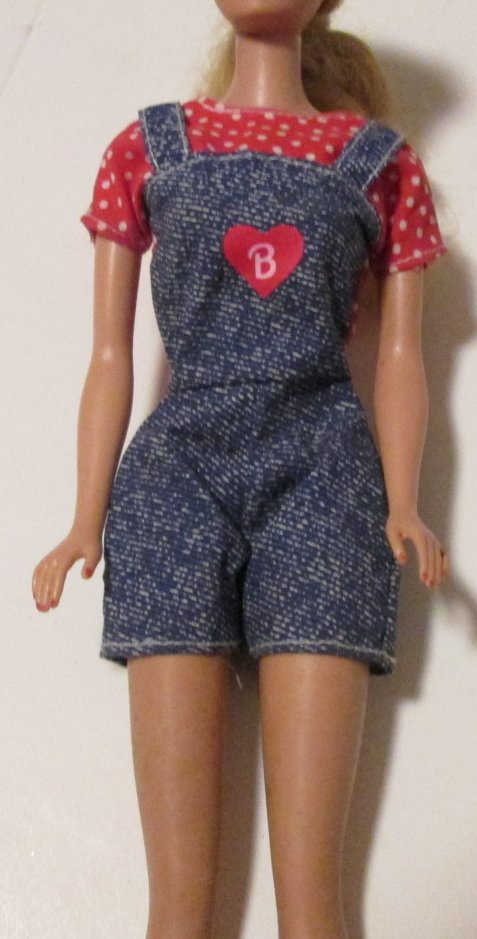 BARBIE doll vintage Clothing Fashion short jumpsuit