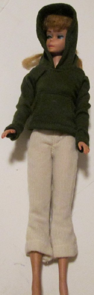 BARBIE doll Clothing Fashion hooded sweatshirt & white pants