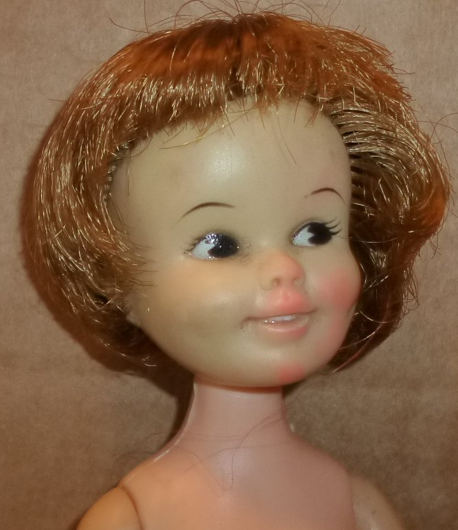 "Vintage 1963 PENNY BRITE Doll nude 8"", Deluxe Reading TLC"