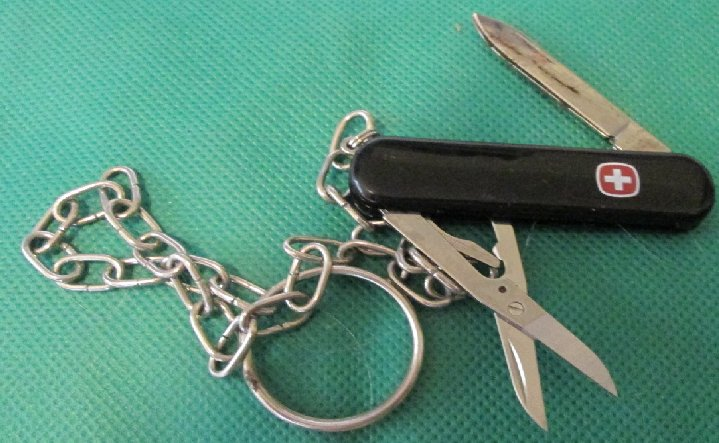 Pocket pen KNIFE with long chain keyring key chain 2.5""