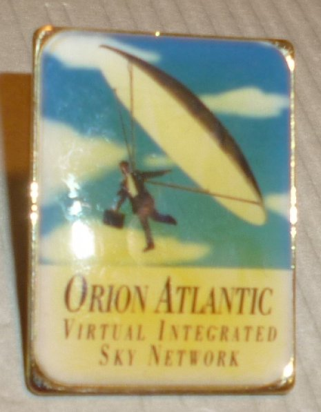 ORION ATLANTIC Virtual Integrated Sky Network lapel Pin 1""