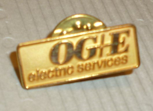 OGIE ELECTRIC SERVICES lapel Pin 7/8""