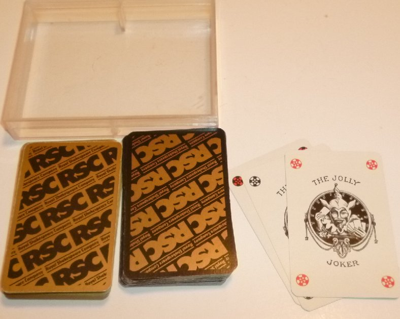 Vintage RSC Royal Shakespeare Company double decks playing cards