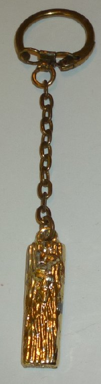 "Vintage JEWISH Mezuzah keyring key chain 1.5"" - Click Image to Close"