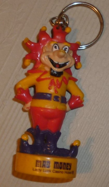 Mad Money LADY LUCK CASINO PVC Figure keyring 3""